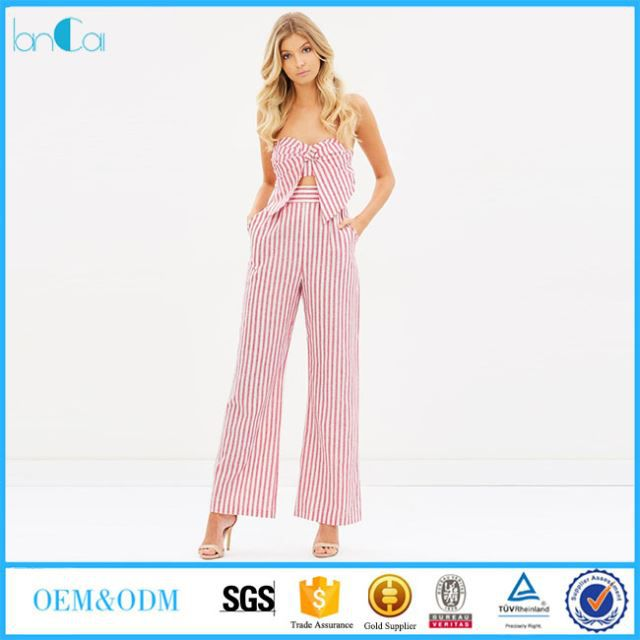 Off Shoulder Linen Jumpsuit